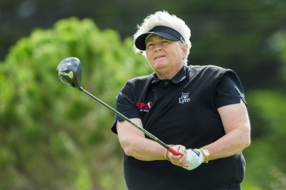 Laura Davies of England during the Wednesday Pro-Am